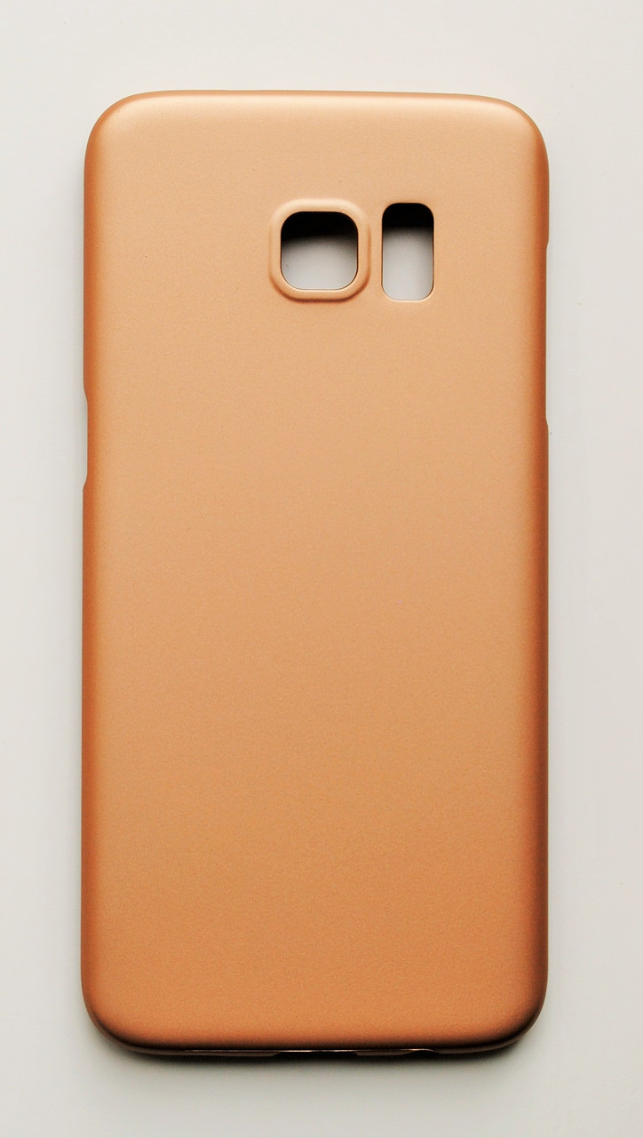 Чехол на Самсунг Galaxy S7 edge G935F PC Soft Touch матовый Пластик Золото