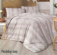 Полуторное детское постельное , хлопок ранфорс. Altinbasak (Турция), Nobby bej - полуторный
