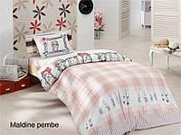 Полуторное детское постельное , хлопок ранфорс. Altinbasak (Турция), Maldine pink - полуторный