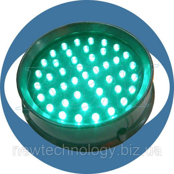 Модуль светодиодный безлинзовый, 230В, 100 мм, зеленый