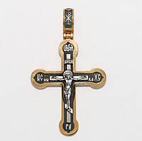 Серебряный крестик 3498-ЗЧ