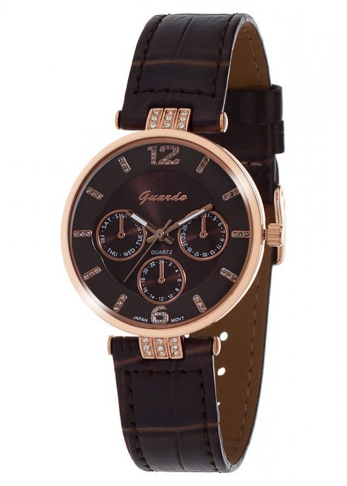 Жіночі наручні годинники Guardo 01409 RgBrBr