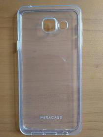 Силиконовый чехол бампер Samsung Galaxy A3 2016