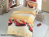 Полуторное детское постельное , хлопок ранфорс. Altinbasak (Турция), Speed time red