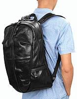 0c9cef397f20 Мужской оригинальный рюкзак из натуральной кожи 20 л. S.J.D. 7340A, черный