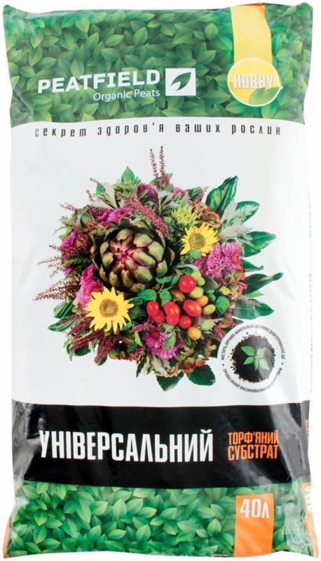 """Торфяной субстрат """"Универсальный"""" PEATFIELD, 40 л — выращивание рассады и цветов"""