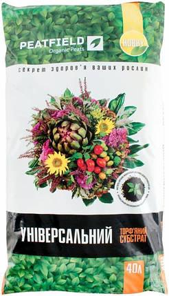 """Торфяной субстрат """"Универсальный"""" PEATFIELD, 40 л — выращивание рассады и цветов, фото 2"""