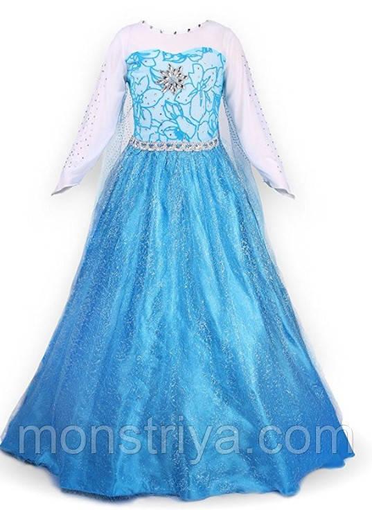 Карнавальный костюм платье принцессы Эльзы