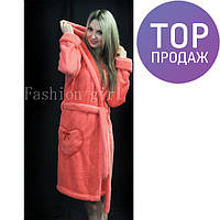 Женский махровый халат для дома, разные цвета / женский халат, теплый, удобный, новинка