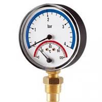 Термоманометр радиальный Cewal TRR 80 VI (0-6Bar 0-120°C)
