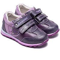 Ортопедические кроссовки для девочки Фламинго,  кожаные на липучках, размер 22-27