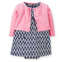 Детский комплект- платье с кардиганом Картерс для девочки
