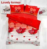 Полуторное детское постельное , хлопок ранфорс. Altinbasak (Турция), Lovely red - полуторный