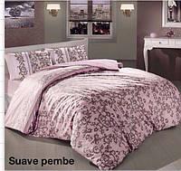 Полуторное детское постельное , хлопок ранфорс. Altinbasak (Турция), Suave розовый - полуторный