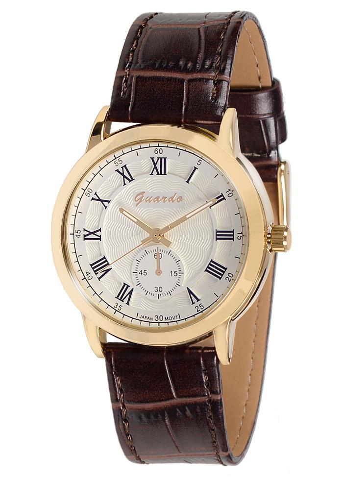 Чоловічі наручні годинники Guardo 05763 GWBr