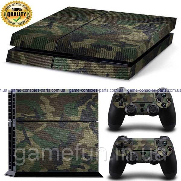 PS4 вінілова наклейка камуфляж Premium