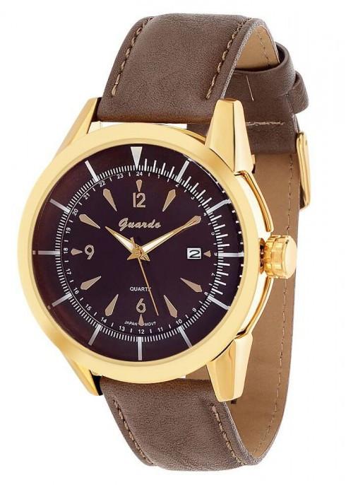 Чоловічі наручні годинники Guardo 06524 GBrBr