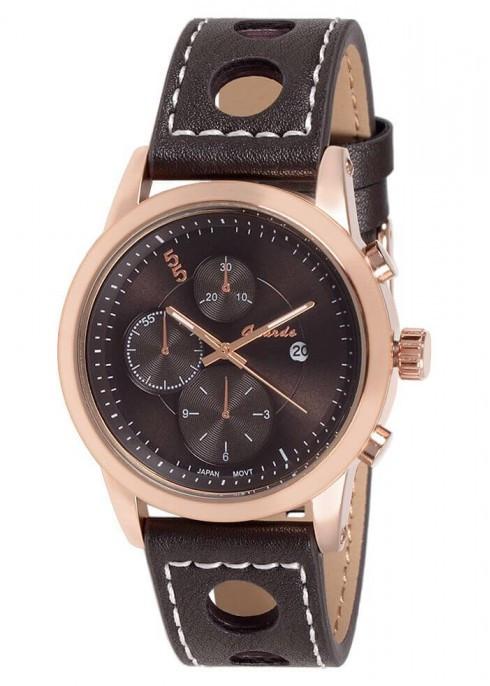 Чоловічі наручні годинники Guardo 06651 RgBrBr