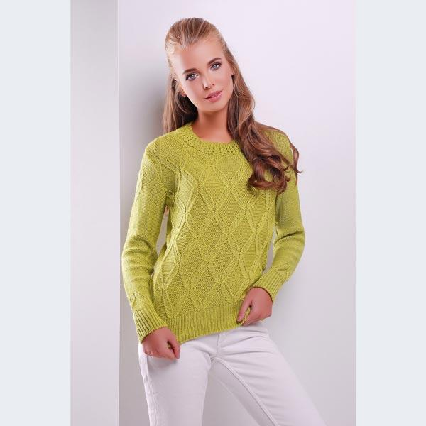 вязаный свитер фисташкового цвета купить в интернет магазине цена