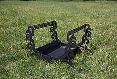 Декоративная дровница из стали, фото 2