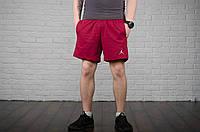 Шорты Jordan, мужские красные, лого вышивка, фото 1