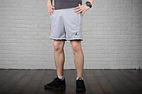 Шорты Jordan, мужские серые, лого вышивка, фото 1