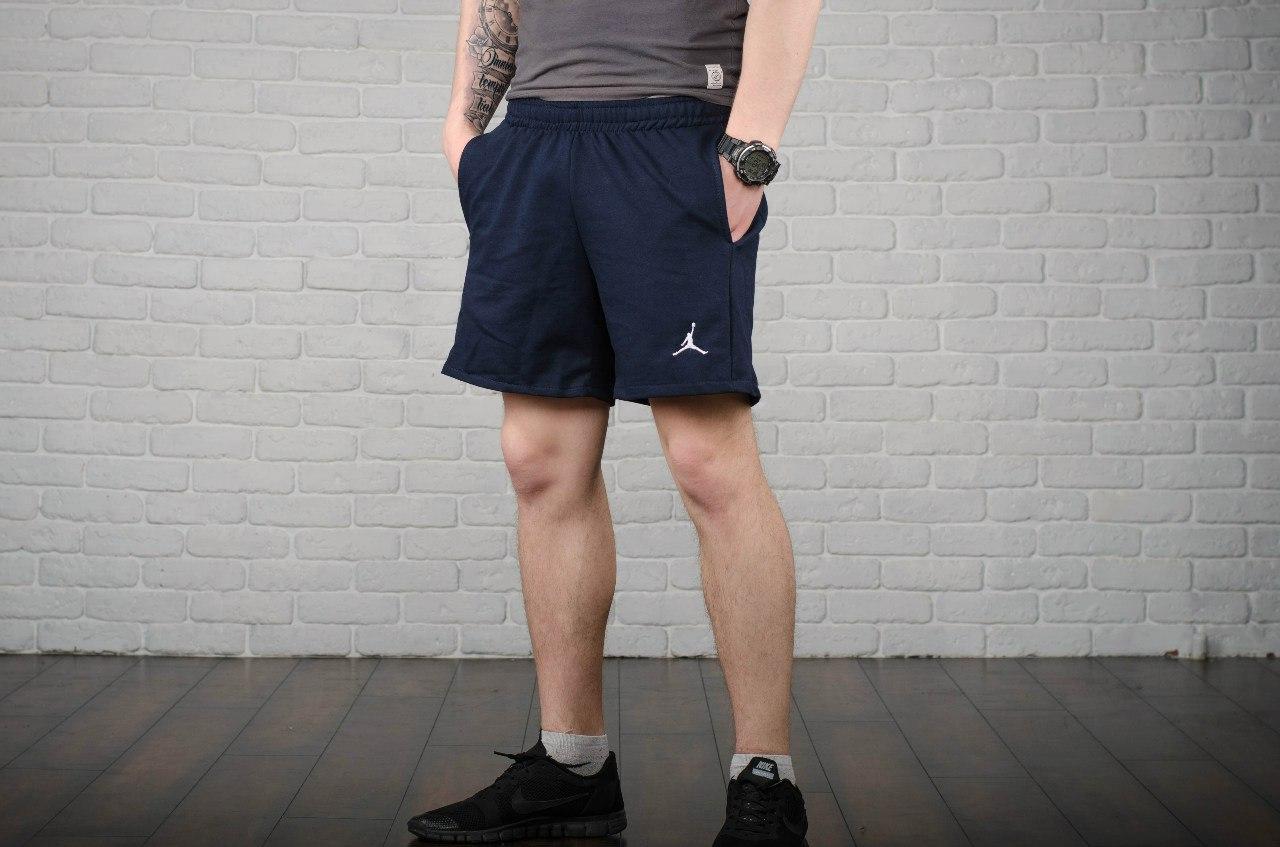 Шорты Jordan, мужские синие, лого вышивка, фото 1