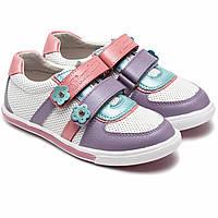 Кожаные кроссовки для девочки Фламинго, на липучках, размер 27-32