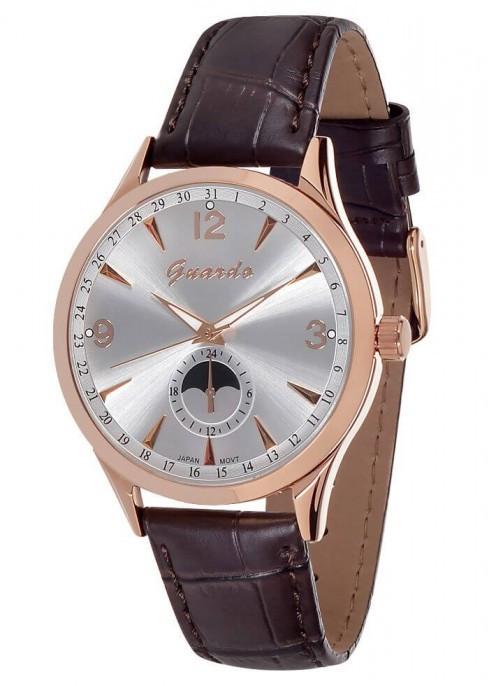 Чоловічі наручні годинники Guardo 10618 RgWBr