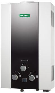 Газовая колонка Termaxi JSD 20 WG-A1, 9,3 л. белая с черной матовой зеркальной панелью