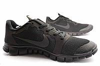 Мужские кроссовки Nike FREE 3.0 черные подошва N1