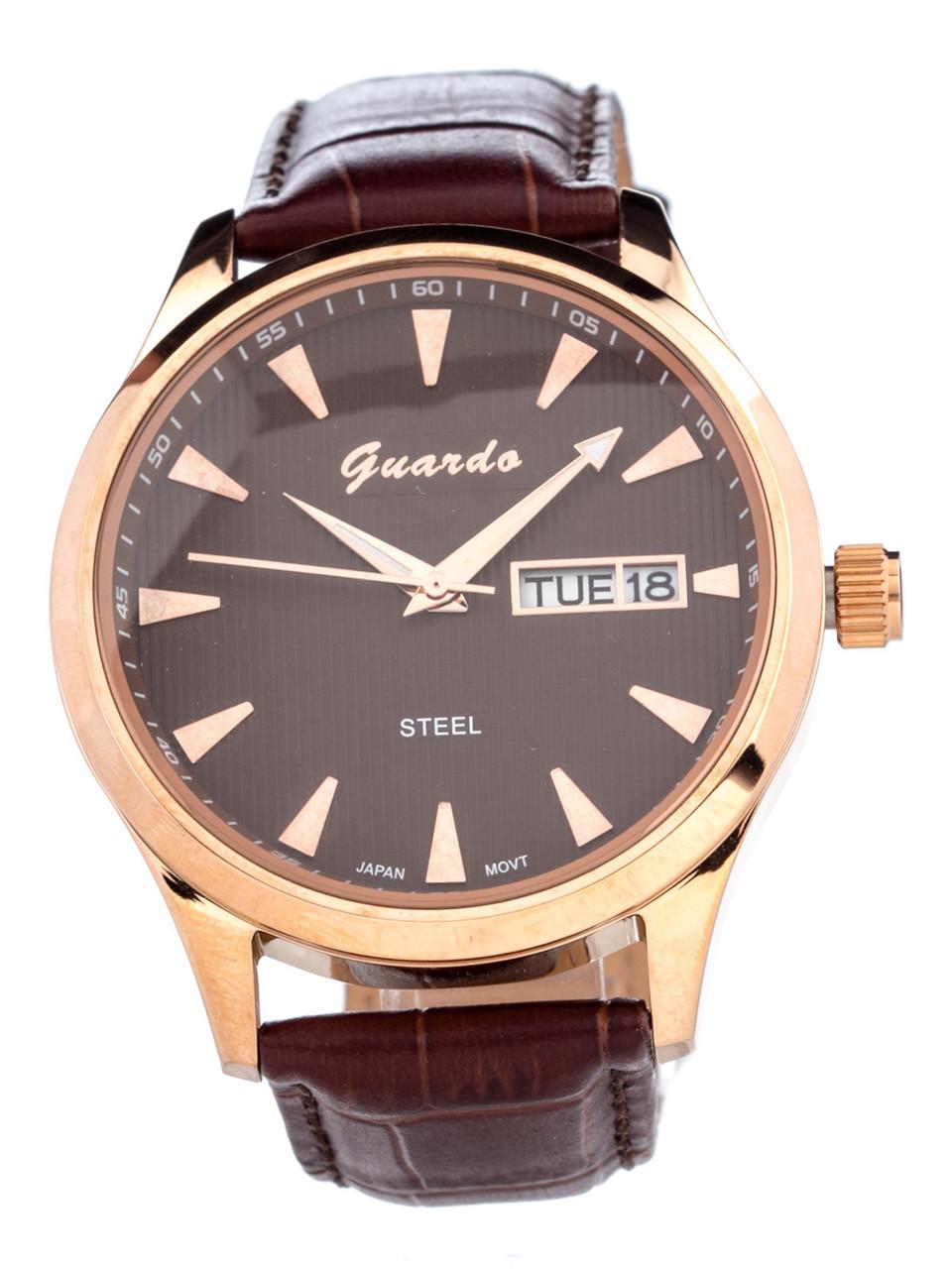Чоловічі наручні годинники Guardo S00539 RgBrBr