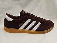 Женские кроссовки Adidas Hamburg коричневые