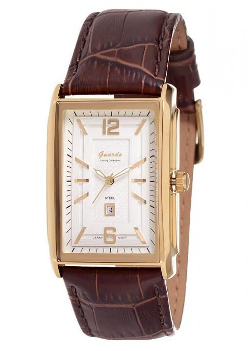 Чоловічі наручні годинники Guardo S00824 GWBr