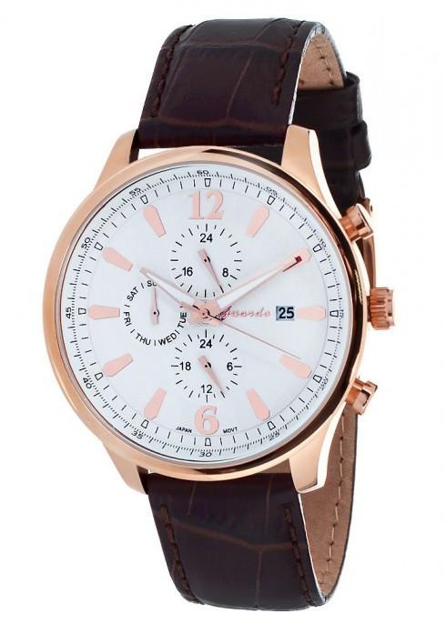 Чоловічі наручні годинники Guardo S01032 RgWBr