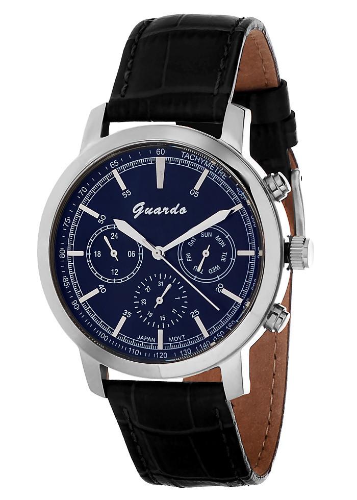 Чоловічі наручні годинники Guardo S01035 SBB
