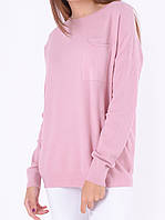 Розовый женский джемпер под джинсы