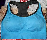 Спортивный топ Focus с чашечками размер S, голубой, фото 1