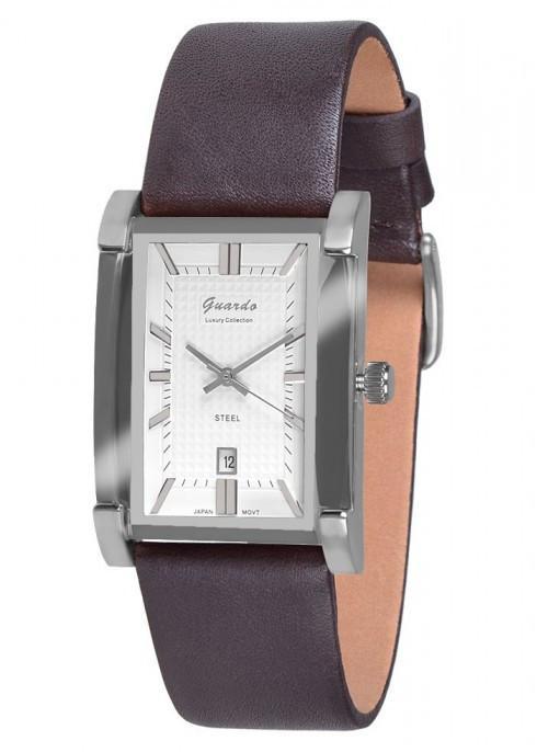 Чоловічі наручні годинники Guardo S06588 SWBr