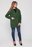 """Пальто-пиджак """"Бланка"""" зеленое S"""