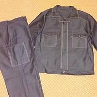 Новая спецодежда брюки, куртка р. 48-50, цвет черный, сатин