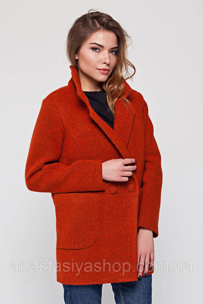 """Пальто-пиджак """"Бланка"""" терракот S"""