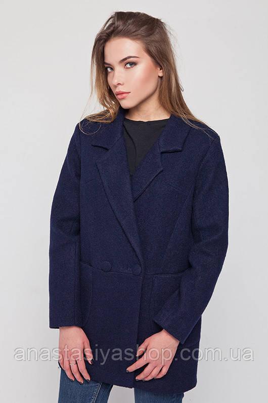 """Пальто-пиджак """"Бланка"""" синее M"""