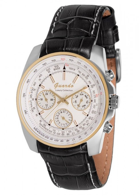 Чоловічі наручні годинники Guardo S09861 GsWB
