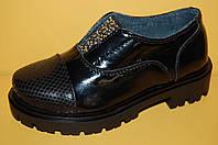 Детские кожаные туфли ТМ Bistfor код 70105 размеры 28-38