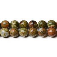 Риолит, Натуральный камень, На нитях, бусины 8 мм, Круглые, Отверстие 1 мм, кол-во: 48 шт/нить