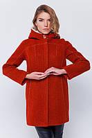 Пальто с капюшоном «Сюзи» терракот