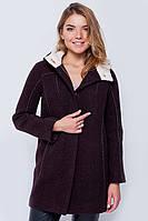 Пальто с капюшоном «Сюзи» коричневое