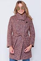 Зимнее пальто «Эйми» чернильно-розовое
