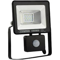 Прожектор светодиодный LED с датчиком движения 10w 6500K IP65
